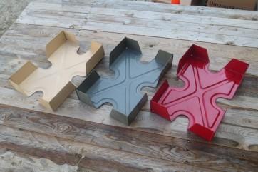 Ablagen für Schreibtisch, in grau, rot, oder beige