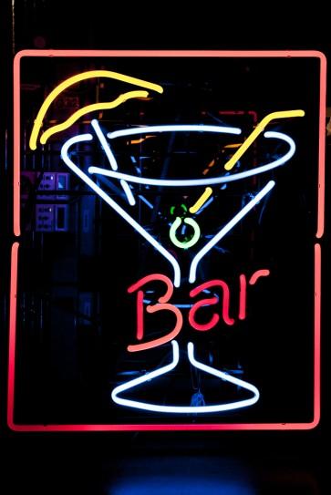 Neonleuchte Bar Cocktail