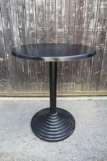Bistrotisch, schwarze Platte, für Sitzhöhe