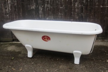 Badewanne, Blech, weiß, freistehend