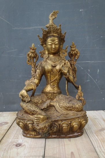 Messingfigur, buddhistisch