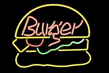 Neonleuchte Burger