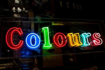 Neonleuchte Colours