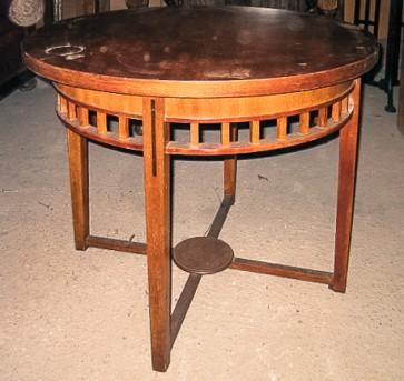 Tisch, halbhoch, Holz, rund