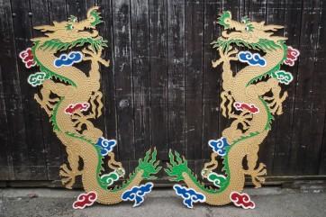 Drache, chinesisch, Wanddeko