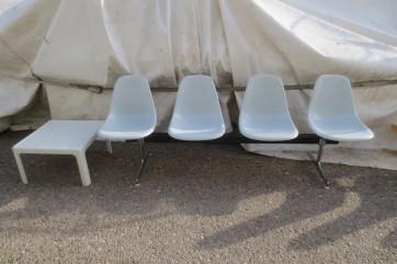 Sitzschalenreihe Eames 4er Reihe