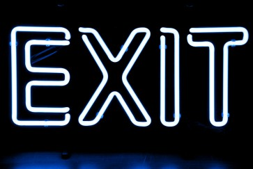 Neonleuchte Exit