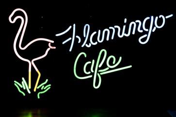 Neonleuchte Flamingo Cafe