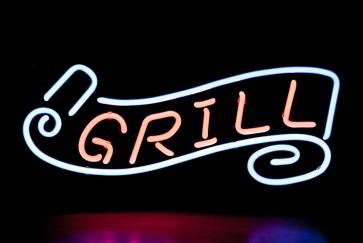 Neonleuchte Grill