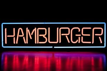 Neonleuchte Hamburger