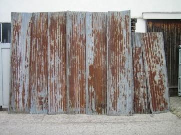 Wellblech, Hintergrund, Patina