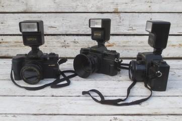 Fotoapparat, Attrappe mit Blitzfunktion