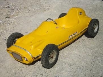 Karussellauto, Rennwagen, gelb