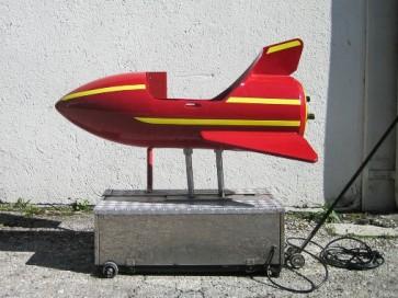 Kiddyride, Rakete, rot