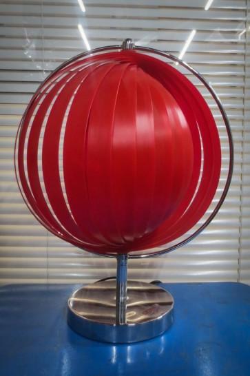 Lampe, kugelförmiger Fächer, rot