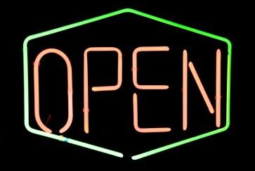 Neonleuchte Open