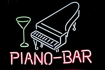 Neonleuchte Piano Bar