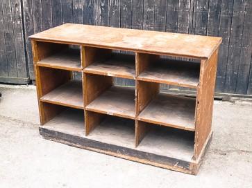 Regal, Werkstattregal, Holz, halbhoch