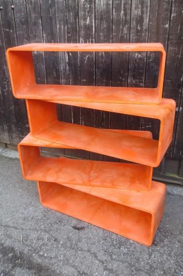 Regalelement, 70er, orange
