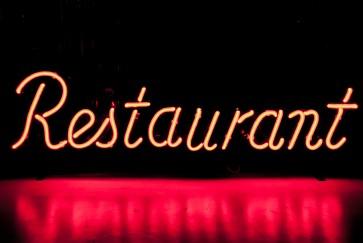 Neonleuchte Restaurant