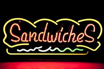 Neonleuchte Sandwiches