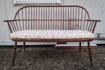 Bank, dänisch Design, Holz, mit Sitzpolster