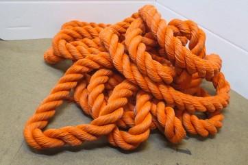 Seil, Tau, dick, orange