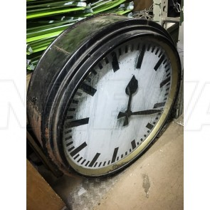 Uhr, Bahnhof, Schwarz, ohne Ziffern