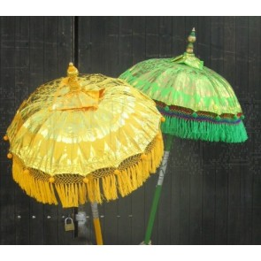 Schirm, chinesisch, Deko, auf Holzstiel