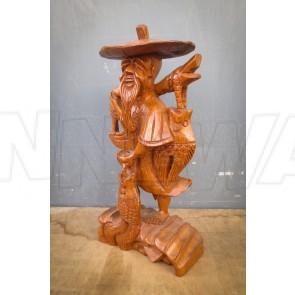 Chinesischer Fischer, Holzfigur