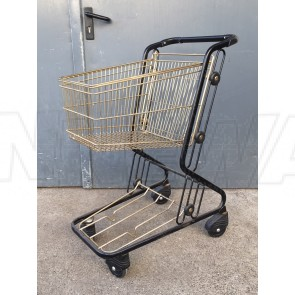 Einkaufswagen, Messing, kleine Ausführung