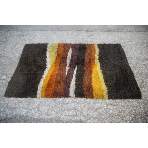Teppich, Flokati, groß, braun