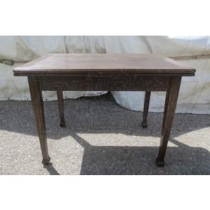 Tisch, Holz, dunkel, beidseitig, ausziehbar