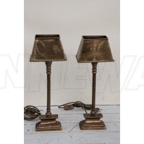 Lampe, Tischlampe, laternenförmig, Messing