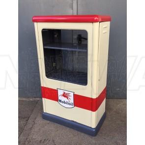 Ölkabinett Mobilöl Mobiloil, beige rot mit Pegasus