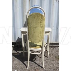 Schminkkommode mit Spiegel und Stuhl, Thonet, weiß, grün