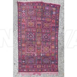Teppich, Kelim, Orientteppich, Violett, Quadrate